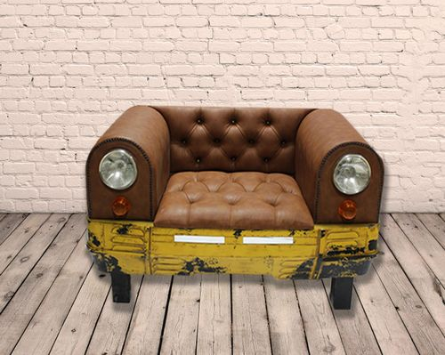 Industrial PU Leather Car Sofa Seat